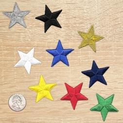 1.5 inch Iron On Star Patches, Embroidered Star Patch Appliq