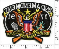 10 Pcs Embroidered Iron on patches 2nd Amendment RIGHT TO BE