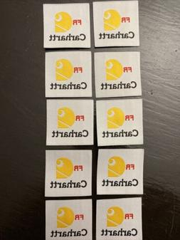10 Replacement FR Iron On Patches Tags Fire Resistant Retard
