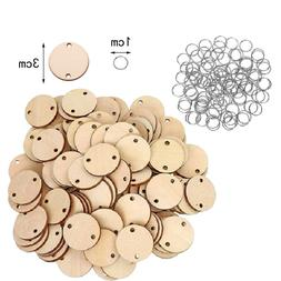 100pcs Wood Chip With 100 Iron Rings Tiny Teaching Supplies