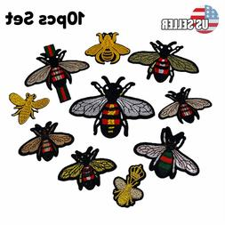 10pcs crown bee iron on patch gucci