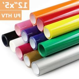 "12""x5'ft HTV Heat Transfer Vinyl Roll PU Lettering Film Iron"