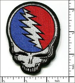 10 Pcs Embroidered Iron on patch Grateful Dead Face Skull 2.