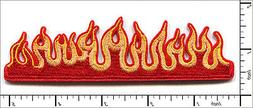 """15 Pcs Embroidered Iron on patches Fire Flame 4.96""""x1.38"""" AP"""
