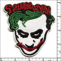 15 Pcs Embroidered Iron on patches Why So Serious Joker AP01