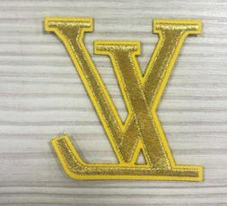 "2.25""  GOLD LV Fashion DIY Iron on Sew on Applique Patch"