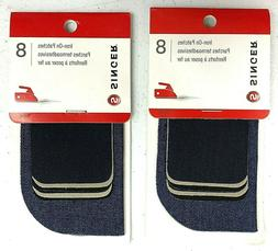 2 Packs SINGER Iron-On Patches Assorted Sizes 8/Pkg 16 Patch