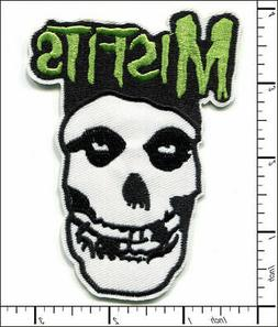 20 Pcs Embroidered Iron on patches Misfits Skull Punk AP021g