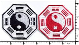 20 Pcs Embroidered Iron on patches TaiJi YinYang AP050aE