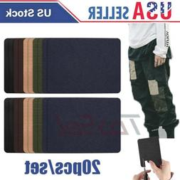 20PCS Iron On Denim Repair Patches Kit For Mending Embellish