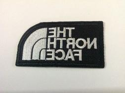 "3"" THE NORTH FACE BLACK/WHITE LOGO Embroidered Iron On/Sew O"