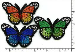 30 Pcs Embroidered Iron on patches Mixed Colorful Butterfly
