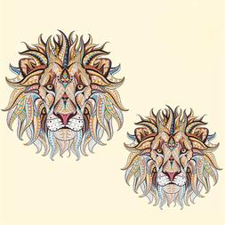 3pcs Iron-on Transfer Clothes Patches Cool 3D Lion Pattern S