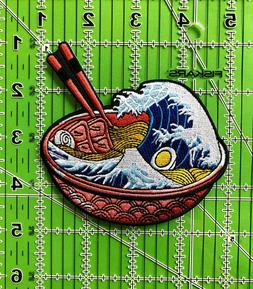 "4"" The Great Wave Ramen Iron on/Sew on Patch"
