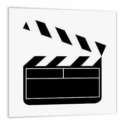 3dRose _43830_ Movie Clapboard Iron on Heat Transfer for Whi