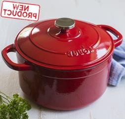 5.5 Quart Dutch Oven Enameled Cast Iron Kitchen Cooking Cook