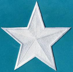 "5"" Embroidered Iron-On Star Patch : Your choice of colors"