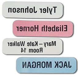 50 Printed Iron-on Name Labels/Tags for School, Care, Nursin