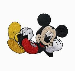 """#6769S 2 3/4"""" Mickey Mouse Embroidery Iron On Applique Patch"""