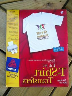 "Avery 8938 Fabric T-Shirt Iron-On Transfers, 8-1/2"" x 11"", 1"