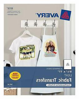 Avery 8938 Iron On Personalized T-Shirt Transfers Inkjet Lig