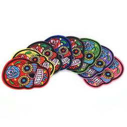 8Pcs iron on patches for clothes sew-on embroidered patch ap