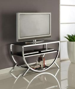 Kings Brand Furniture Metal with Glass Top & Shelves TV Stan