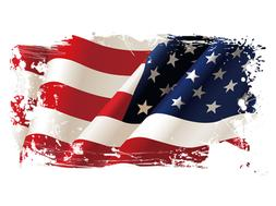 """AMERICAN FLAG DISTRESSED iron on heat transfer 10"""" or Pocket"""