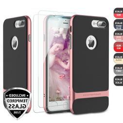 For Apple iPhone 8 7 Plus Shockproof Case + 2Pcs Tempered Gl