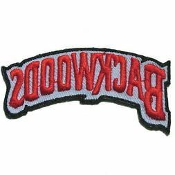 """Backwoods Embroidered Iron On Logo 2.813"""" Patch"""