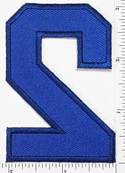 Blue Number 2 Patch Number Two Counting Logo Letter School S