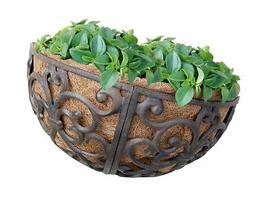 Esschert Design USA BPH27 Cast Iron Hayrack Basket Planter,