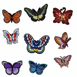 Butterfly Iron on Embroidered Patches Sew Applique Repair Pa