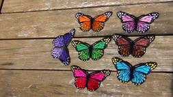 butterfly patches quantity 7 different color sew on Iron on