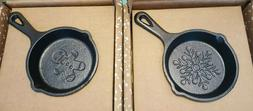 LODGE CAST IRON ADVERTISING CHRISTMAS MINATURE SKILLETS.  20