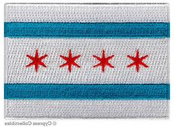 CHICAGO CITY FLAG embroidered iron-on PATCH EMBLEM new ILLIN
