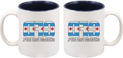 Chicago Fire Department Coffee Mug Chicago Flag 2-Sided