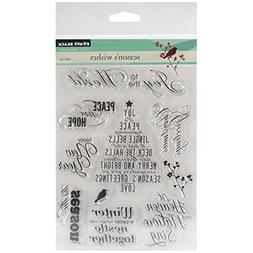 Penny Black Clear Stamps 5X6.5 Sheet-Season's Wishes