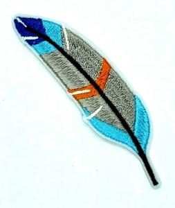 Colorful Bird Feather Patch Iron Sew On Embroidered Applique