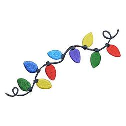 Colorful Christmas Lights Applique Patch - String of Lights