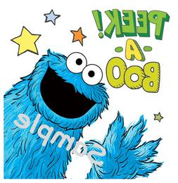 """Cookie Monster Iron On Transfer 5x5"""" for LIGHT-Colored Fabri"""
