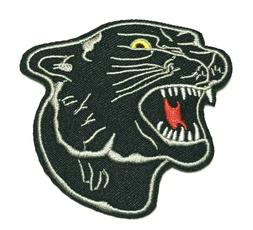 cool black panther face embroidered iron on