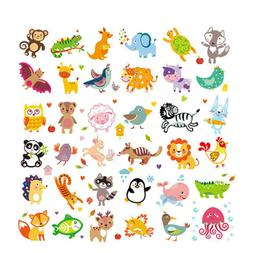 Cute Animals Patches Heat Transfer Iron On Patch Washable Cl