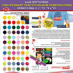 "Siser easyweed iron-on htv heat transfer vinyl 15"" x 9"",12"","