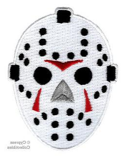 EMBROIDERED HOCKEY MASK PATCH IRON-ON FRIDAY THE 13th JASON