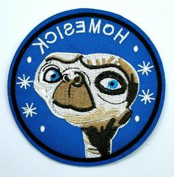 Embroidered Homesick Alien Sew On Iron On Blue Patch Badge F