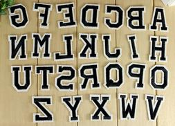 Embroidered Iron on patch Alphabet Letters Your Choice aroun