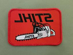 Stihl embroidered iron on patch.