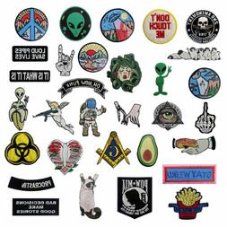 Embroidered Patches Iron Sew On Patches transfers Badges app