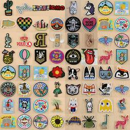 Embroidered Sew Iron On Patches Badge Fabric Bag Clothes App